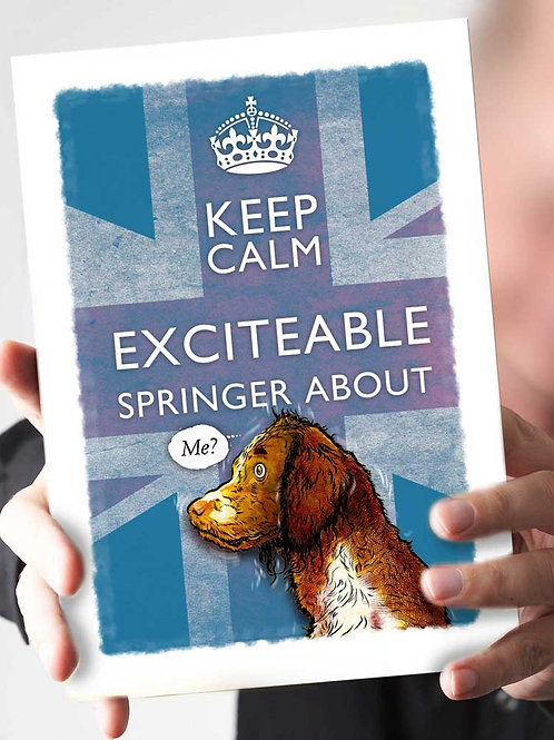 "Ref 29 – ""Keep Calm – Excitable Springer about"""