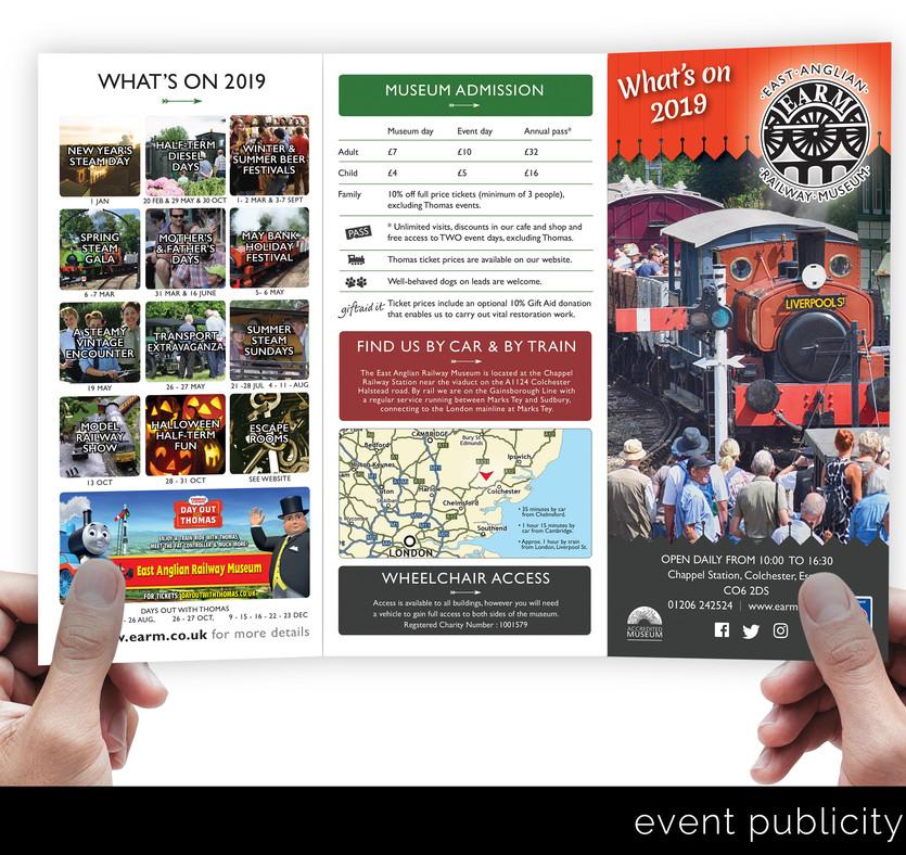 Publicity leaflets...