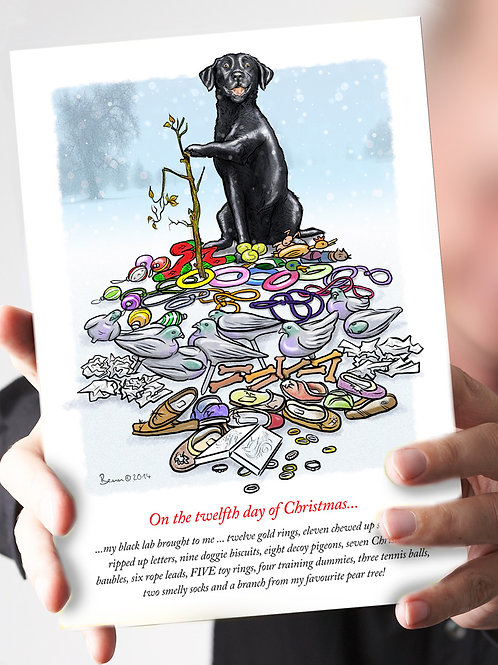 Ref 60 – 12 days of Christmas – Black Lab