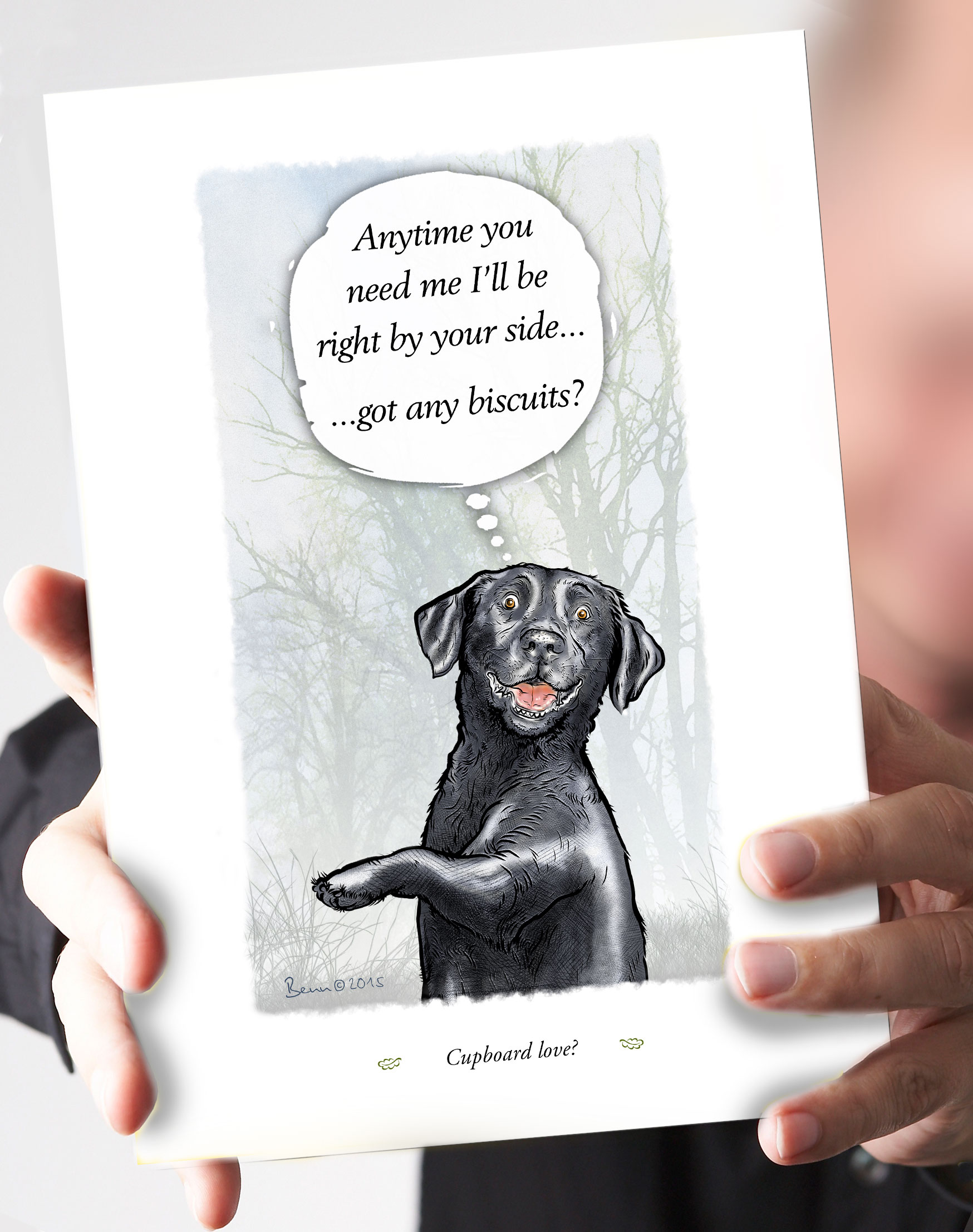66-cupboard-love-black-lab-card