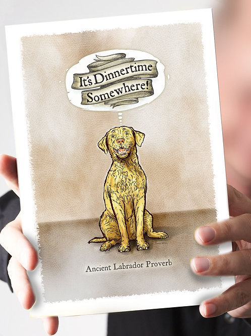 Ref 89: It's Dinnertime Somewhere! Yellow Lab