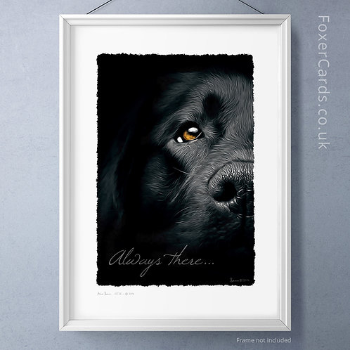 Always there . . . 'Ben' the black lab.