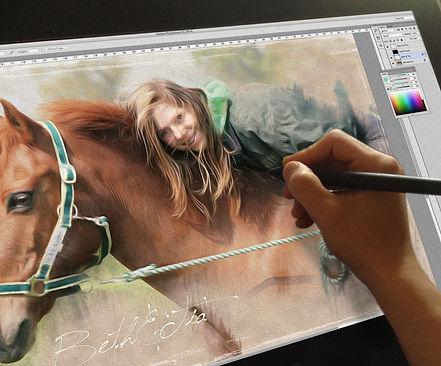 digital painting on a Wacom screen