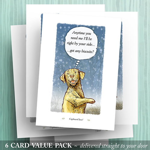 'Cupboard Love' - Yellow Lab - 6 pack