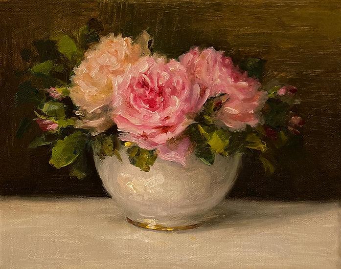 """Marie Antoinette, Latour & The Generous Gardene-Oil Painting on  8""""x10""""on linen"""