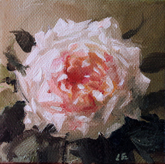 """Pieces of Latour No9, Oil on Linen Painting 3""""x3"""""""