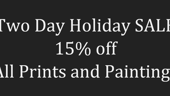Holiday Sale Monday and Tuesday Only