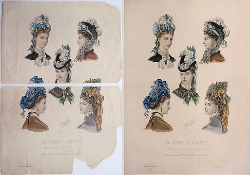 """""""La mode illustrée"""" Laure Noël (lithographie couleur)"""