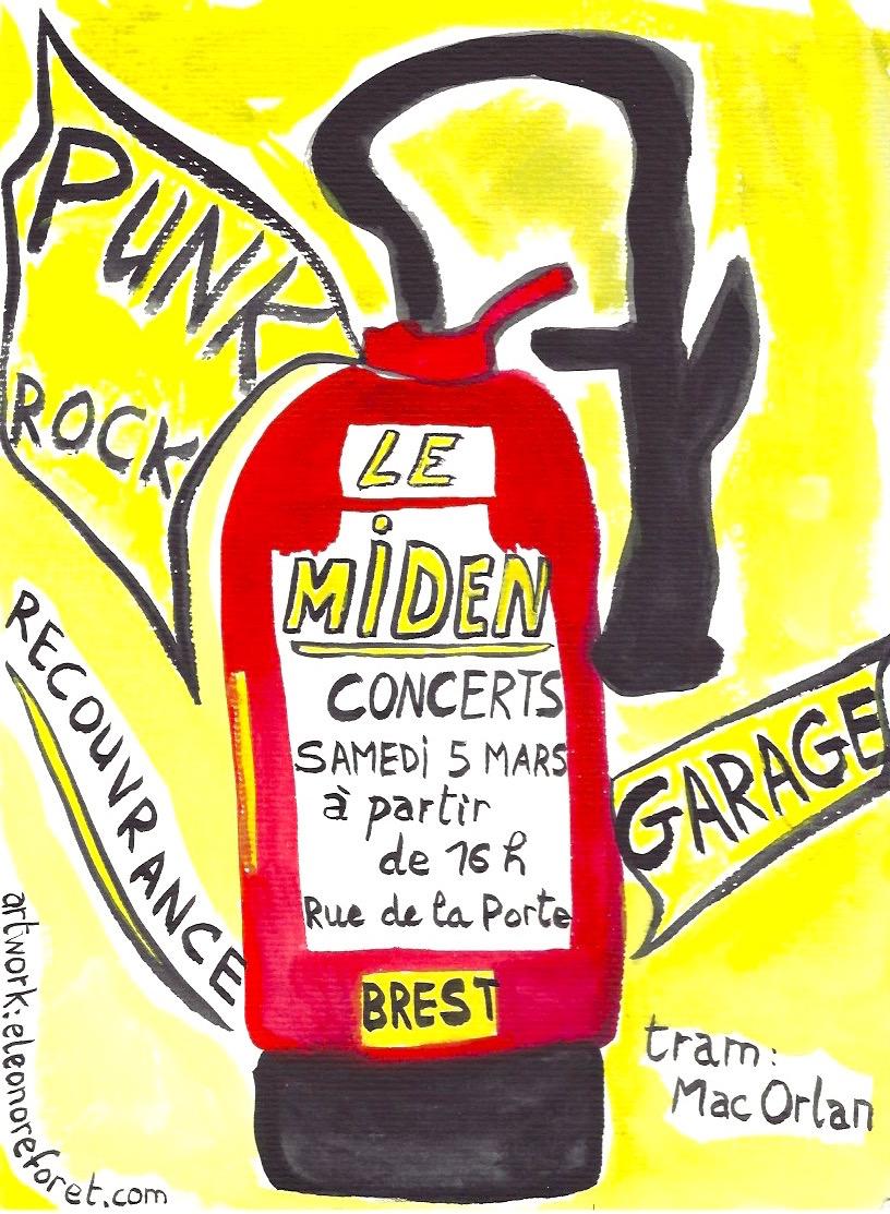 Au Miden, concert de punk & garage