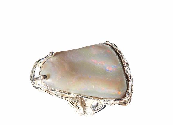 Anello in argento e opale