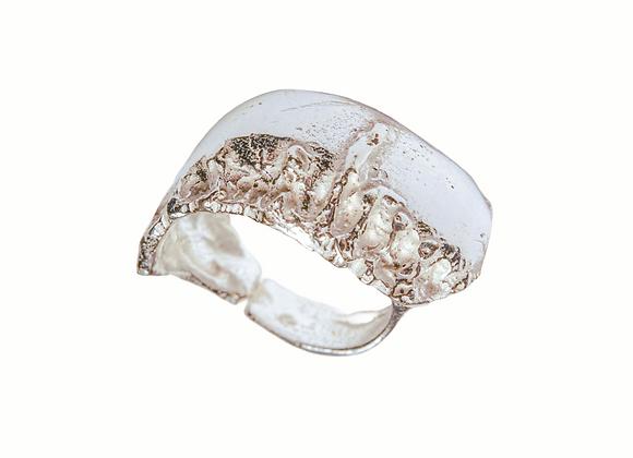 Anello da mignolo in argento microfuso