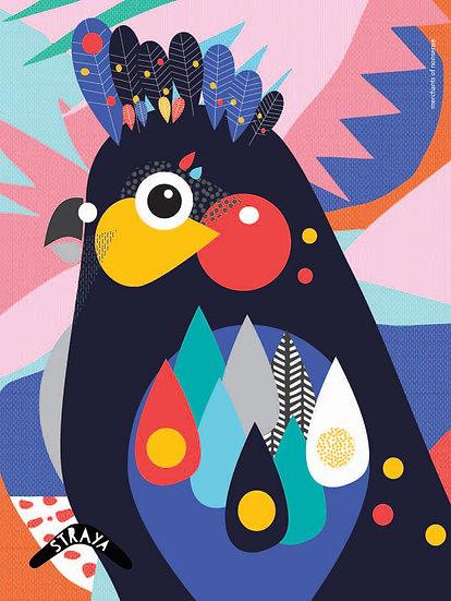 WS Illustrated Black Cockatoo