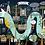 "Thumbnail: Bespoke ""Blue Landscape"" Brisbane A1 custom illustrated map."