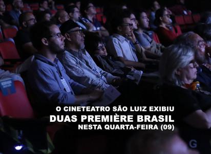 O Cineteatro São Luiz exibiu duas Première Brasil nesta quarta-feira (09)