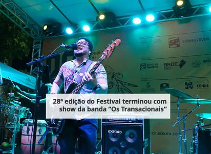 """28ª edição do Festival terminou com show da banda """"Os Transacionais"""""""