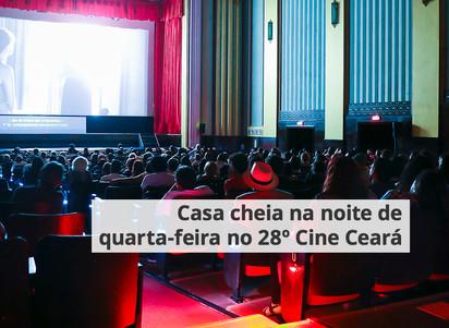 Casa cheia na noite de quarta-feira no 28º Cine Ceará