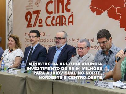 Ministro da Cultura anuncia investimento de R$ 94 milhões para audiovisual no Norte, Nordeste e Cent
