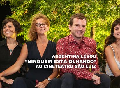 """Argentina levou """"Ninguém está olhando"""" ao Cineteatro São Luiz"""