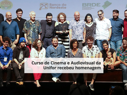 Curso de Cinema e Audiovisual da Unifor recebeu homenagem
