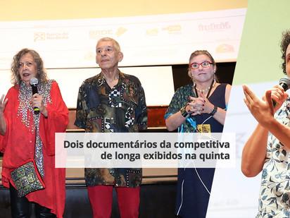 Dois documentários da competitiva de longa exibidos na quinta