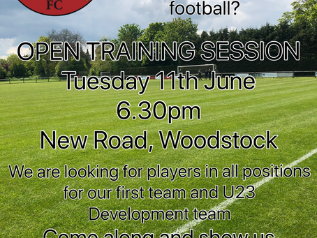 Open Training Session - New Players Welcome