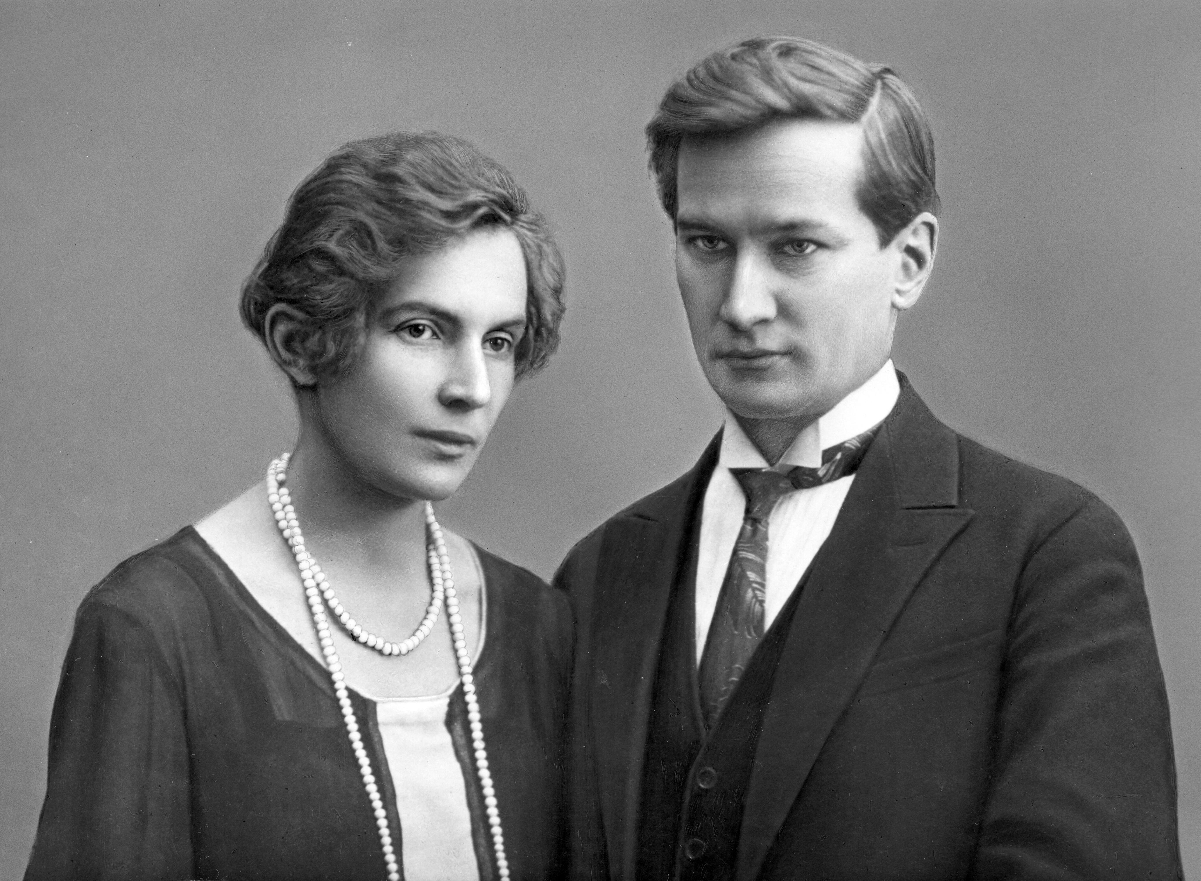Витвер с Еленой Сергеевной перед свадьбо