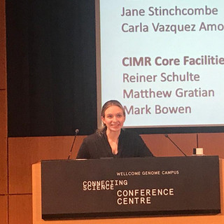 Arianne presenting at the CIMR Research Retreat, 2019