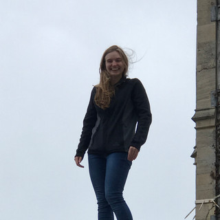 Arianne on the roof at King's College