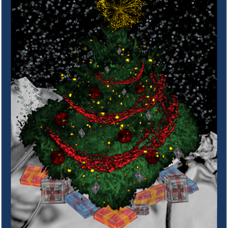 FrohesFest! Lab Christmas card around 2014 made by Nele