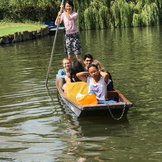 A day out punting enjoying Cambridge, 2019