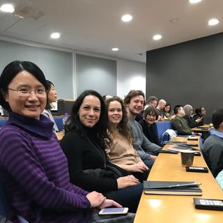 Griffiths lab enjoying great talks at membrane trafficking meeting, 2019