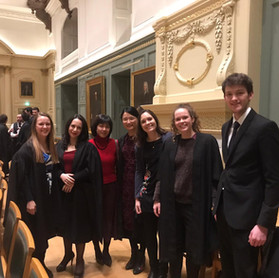 Formal at Claire's college Trinity, Nov 2019