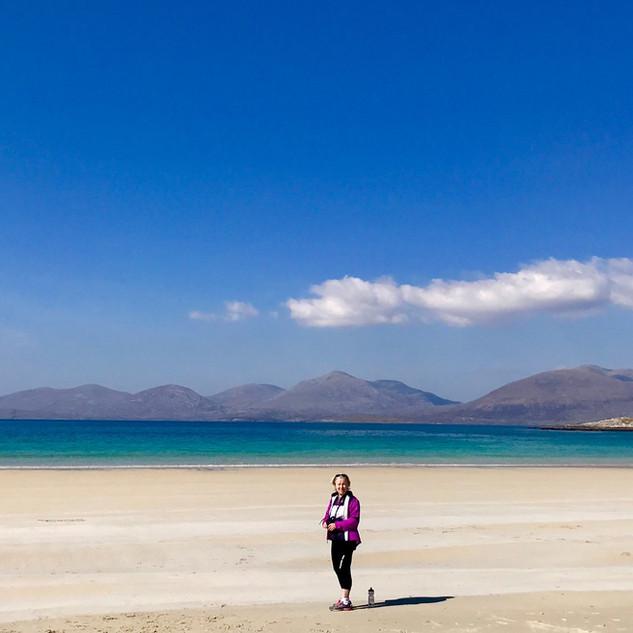 Gillian on a beautiful beach