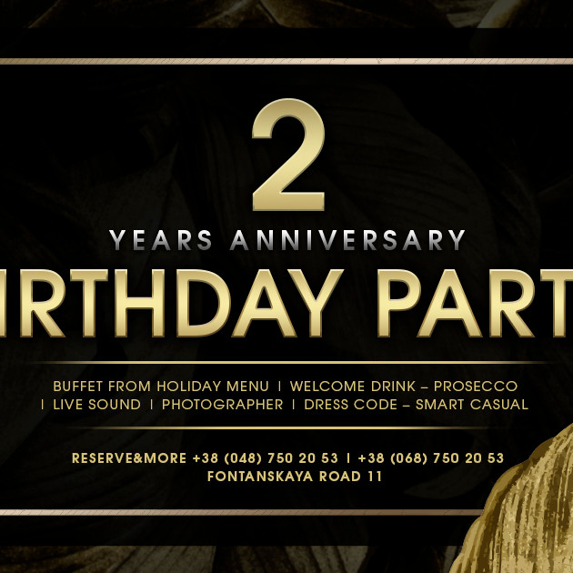 2 YEARS ANNIVERSARY BIRTHDAY  PARTY