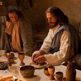 Jesus breaks bread