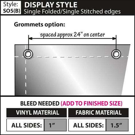 Display Style - Double Fold-Single Stitc