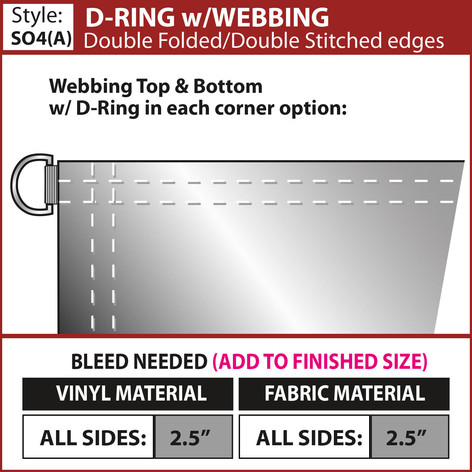 D-Ring with Webbing - Double Fold-Double