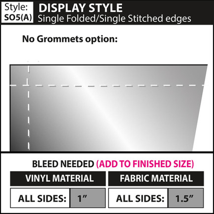 Display Style - Double Fold-Single Stitc