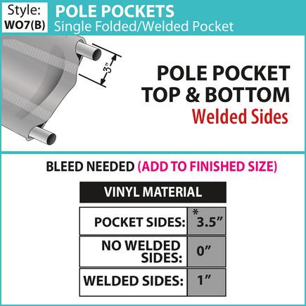 Pole Pockets - Single Fold-Weld Pole Poc