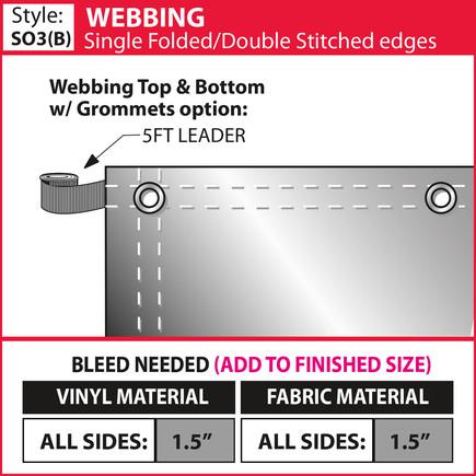 Webbing - Double Fold-Double Stitch & Gr