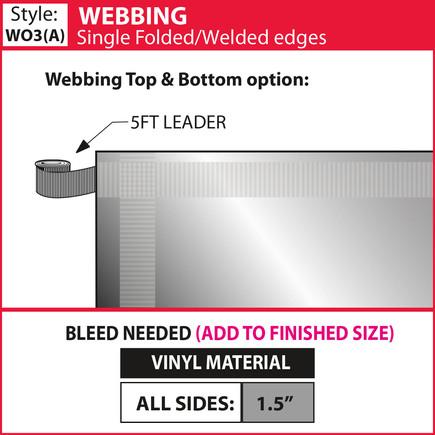 Webbing - Single Fold-Weld - showdown.jp