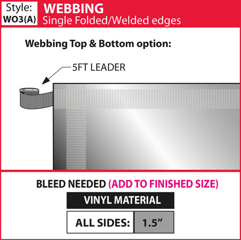 Webbing - Single Fold-Weld - showdown.jp