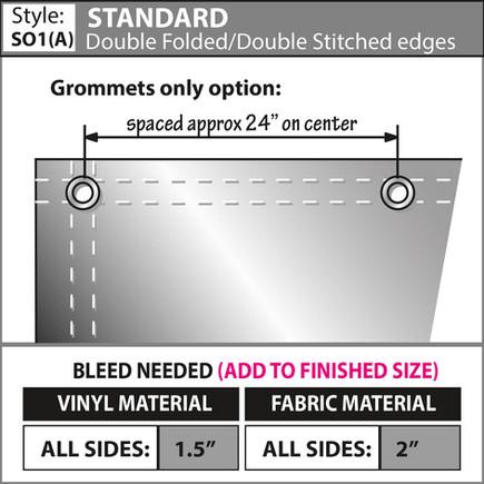 Standard - Double Fold-Double Stitch & G