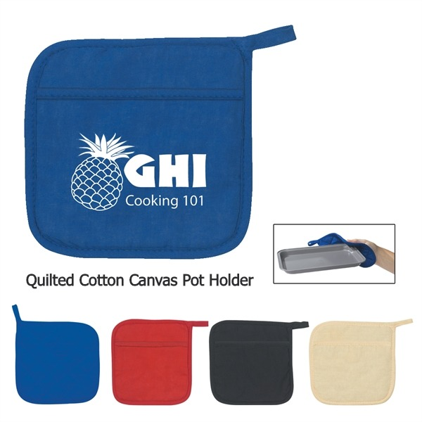 Quilted Cotton Canvas Pot Holder