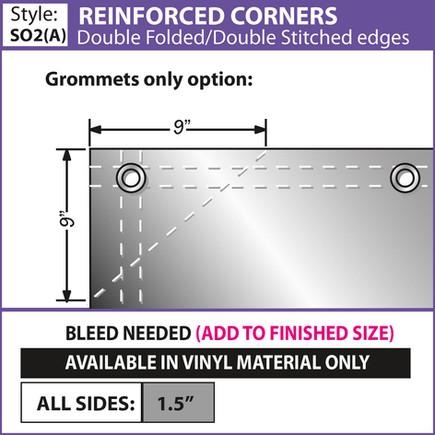Reinforced Corners - Double Fold-Double