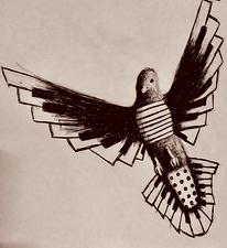 Black & White accordion bird.png