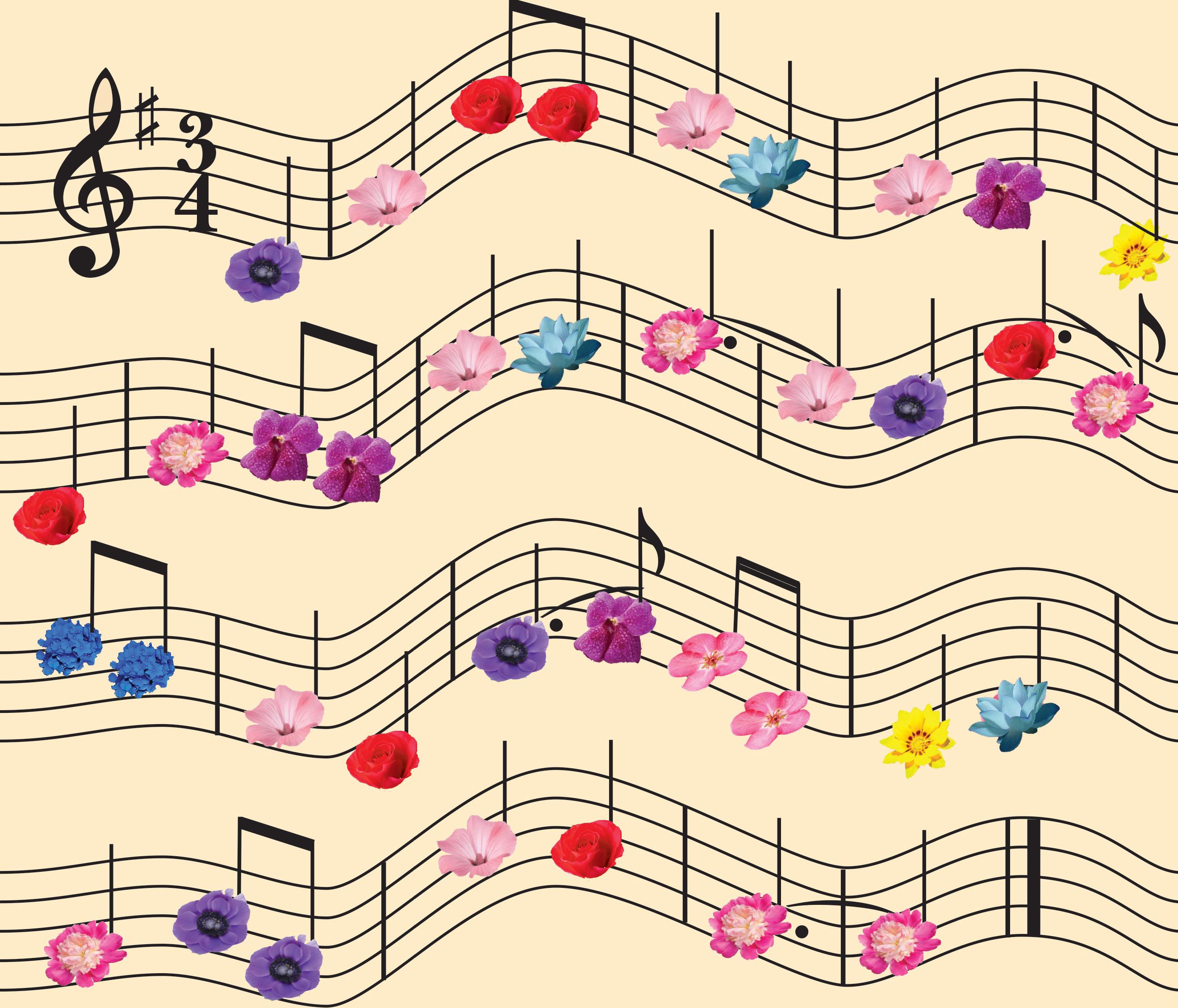 floral sheet music