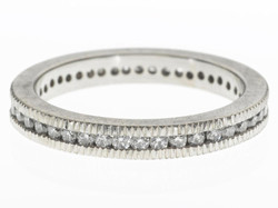 Channel Set White Diamond Ring