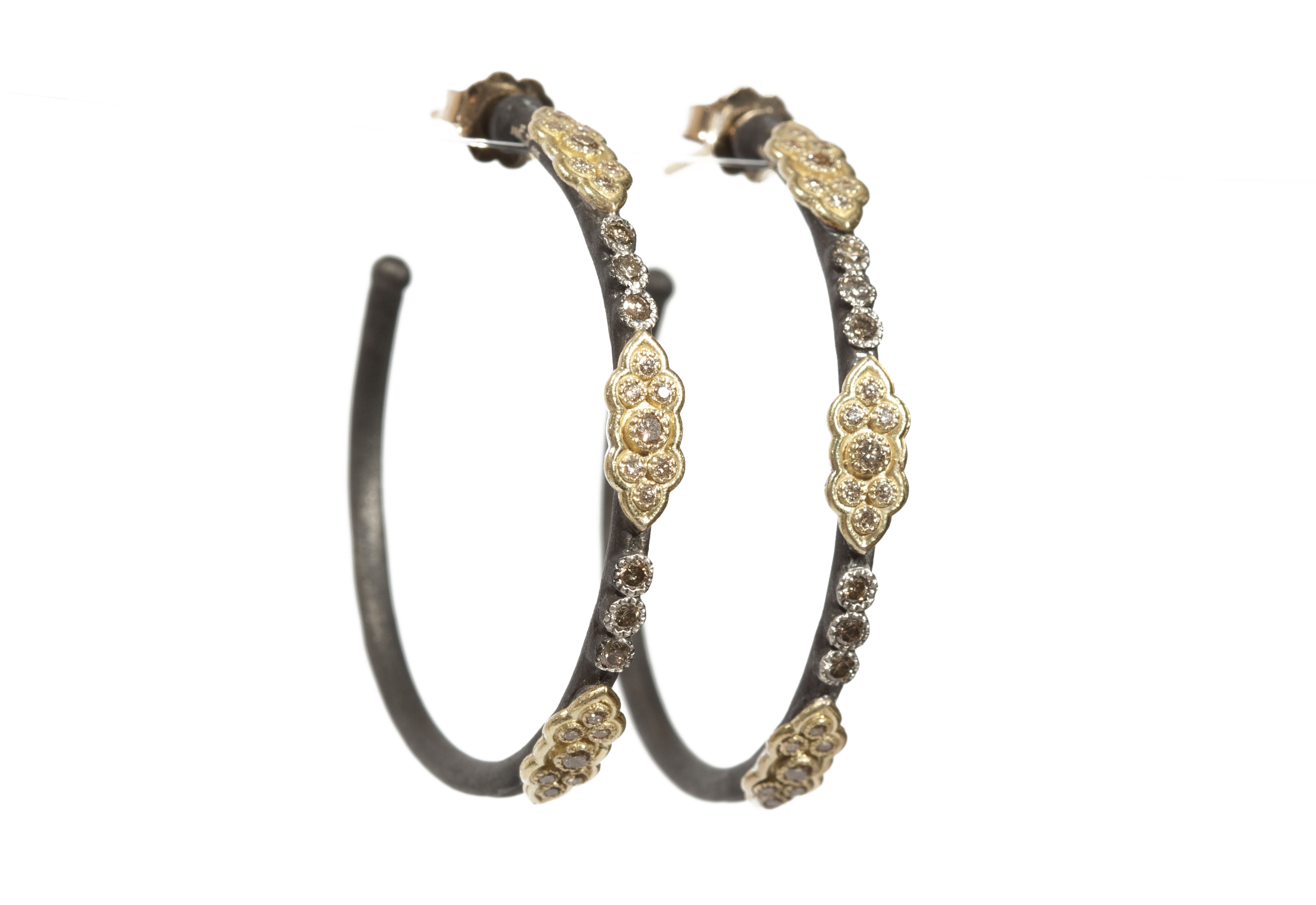 Medium Scroll Hoop Earrings