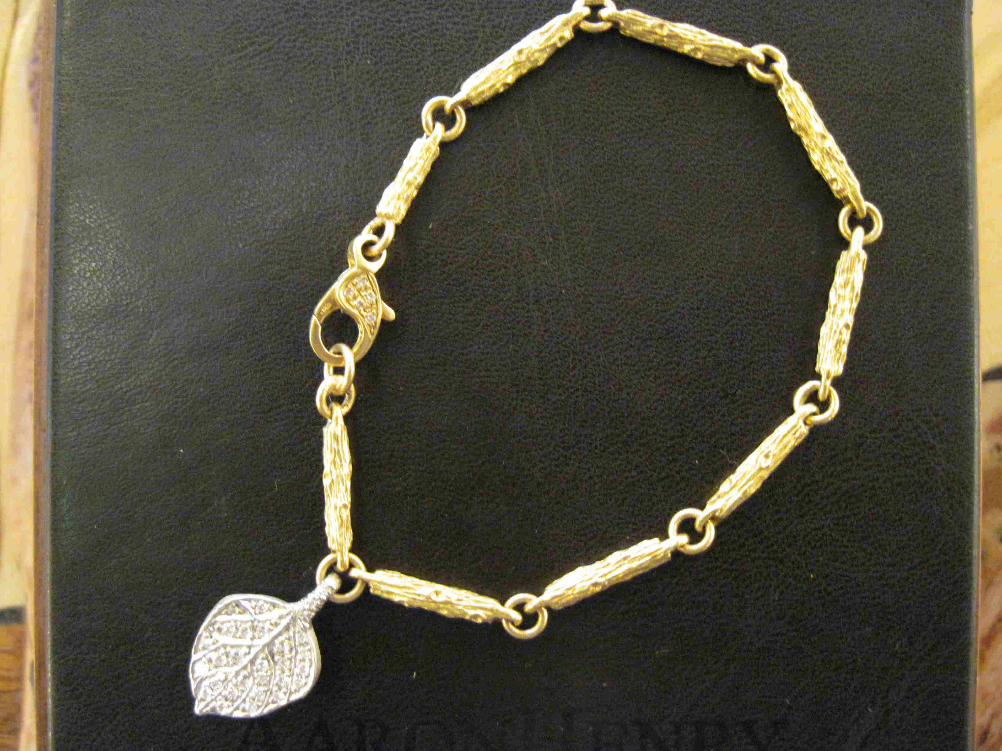 Branch Link Diamond Bracelet